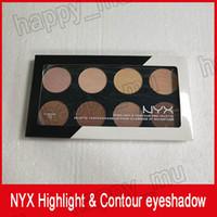 NYX Vurgu Kontur Pro Palet Kapatıcı Pudra Gölge Vakfı Yüz Paleti Tam Boy 8 renkler gölge makyaj dhl ücretsiz