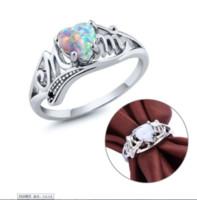 Love Mum 925 Sterling Silver Fire Opal Ring Two Tone Mom Character Diamond Ring Sieraden Familie Verjaardag Beste Gift voor Moeder Mummy Party Wed