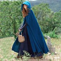 Frauen Poncho Herbst Lässige Cape Blau Chic Mantel Mädchen Boho Mode Damen Stilvolle Poncho Mantel Mit Kapuze Cape 2018 Trendy