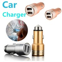 Best Metal Dual USB Port Car Charger Universal 2. 4A Car Char...