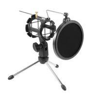 Регулируемый студийный конденсаторный микрофон стенд настольный штатив для микрофона с крышкой фильтра ветрового стекла