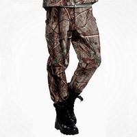 سكسي جديد القرش الجلد العسكرية التكتيكية للشحن الملابس الداخلية للرجال الغابة الدافئة التخييم تسلق شقة طلاء مقاوم للماء بنطلون صامد للريح كامو طويلة