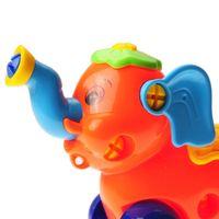 Fai da te smontaggio elefante car design building block asilo giocattolo assemblato educativo con morsetto strumento e cacciavite