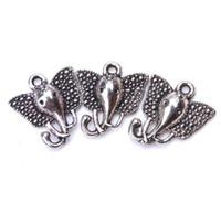 100 Pz in lega di metallo Elephant Charms argento antico pendente di fascini per la collana di monili che fanno scoperte 15x16mm