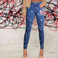 JAYCOSIN 2018 Plus Size Floral Dirty Jeans With Embroidery F...