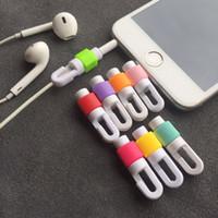 소매 가방 USB 수호자 실리콘 다른 스타일 이어폰 케이블 커버 다채로운 케이블 프로텍터와 휴대용 Usb 케이블 수호자