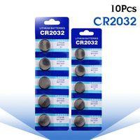 حار 10 قطع cr2032 cr 2032 بطارية ليثيوم أيون 3 فولت خلية زر عملة BR2032 DL2032 SB-T15 EA2032C ECR2032 L2032 كبير