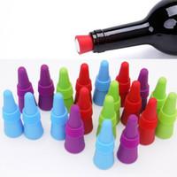 Bouchons de bouteille de vin réutilisables en silicone Grip en acier inoxydable Barre de bouteille de boisson alcoolisée à base de silicone Outils de barre fournis FBA ship WX9-417