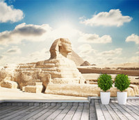 Custom 3D Photo Wallpaper Classic Egyptian Sphinx Large Mura...