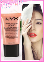 NYX New Liquid Foundation Corrector facial Maquillaje Born To Glow Liquid Illuminator BB Cream Maquillaje en polvo Cosméticos Cuidado de la piel 18ml