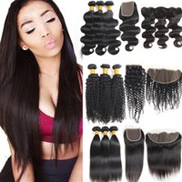 8A Brazilian Hair Extenstions Water Wave 3 Bundles with 13x4...