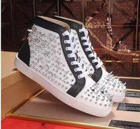 Sneakers uomo fondo rosso PIK PIK Rivetto fatto a mano stile Punk Pelle di mucca di alta qualità Perfetto Goditi le scarpe casual taglia 35-46