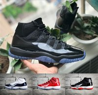Men Basketball Shoes Womens Running Trainers 11 Blackout Sne...