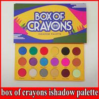 Nuova palette di trucco! BOX OF CRAYONS Cosmetics Palette per ombretti 18 colori iSHADOW Palette Shimmer Matte OCCHIO beauty DHL