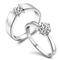 Commercio all'ingrosso S925 Sterling Silver Couple Anelli da uomo gioielli da sposa gioielli in argento sterling