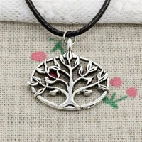 New Fashion Tibetan Silver Pendant life tree 27*27mm Necklac...
