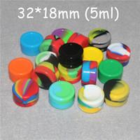 Nichtstick Wachscontainer Silikonbox 5ml Silikonbehälter Food Grade Gläser DAB Werkzeug Aufbewahrungsdose Ölhalter Kieselgelkasten FDA Zulassung