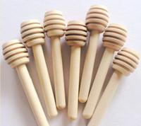 Dhl tarafından ücretsiz nakliye 8 cm uzun Mini Ahşap Bal Sopa Bal Dippers Parti Kaynağı Kaşık Sopa Bal Kavanoz Sopa lin2537