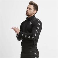 2018 Hoodies com zíper de Moda Masculina Casual Musculação Com Capuz marcas de algodão masculino Camisolas sportswear
