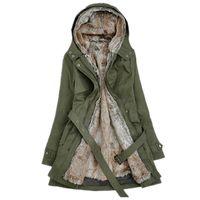 Mujeres de invierno 2018 2018 Casual Ladies Abrigo básico Cálido de manga larga Mujer Parkas