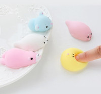 Squishy lento aumento Jumbo Toy Bun Toys Animali Cute Kawaii Spremere Cartoon Toy Mini Squishies Cat Squishiy Moda Animale raro