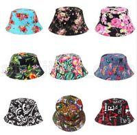 69b75f3f600b1 Wholesale flats fishing hat online - Women Bucket Hat Flower Print Cap  Summer Colorful Flat Hat