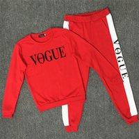 Wholesale 2018 Letter Printed Sweatshirts Tracksuits Women H...
