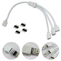 1 bis 3 Female 4 Pin Flexible LED Stecker Kabel Splitter Für 3528 5050 RGB Streifen Licht