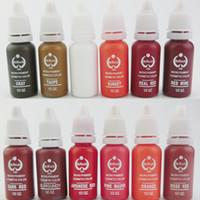 Lot de 4 pièces Lot de pigments pour sourcils Hot Sale Lot de pigments de maquillage permanent pour outils de tatouages de lèvres