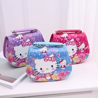 Fashion Children Handbag Cartoon Hello Kitty Pattern Printin...