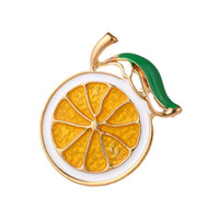 Smalto Limone Spilla Unisex Donne Uomini Spilla Pin accessori monili svegli Frutta Spille modo del cappotto del regalo del vestito
