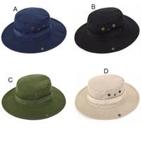 Yeni Varış Basit Rahat Ourdoor kamp dağcılık şapka orman kap Seyahat büyük erkek Güneşlik Şapka ücretsiz kargo Kova şapka C4324