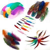 Feather struts / goose / kyckling fasan fjäder diy bröllop dekoration elegant fest kläder tillbehör fjädrar 500pcs mix färg
