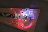 أعلى جودة ibz jem 7 فولت + 4 أنواع المصابيح شفاف أكريليك فلويد روز ديمارزيو لاقط الغيتار الكهربائي شحن مجاني