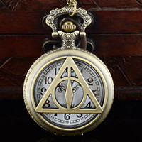 Hollow Hot Movie Theme Triangle Design Pocket Watch Roman Number Dial for Men Women Children Best Gift