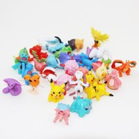 Pikachu Monster Figurines Pikachu Leafeon Evee Vaporeon Flareon Espeon Jolteon PVC Mini Figure Jouets 144pcs / lot DHL