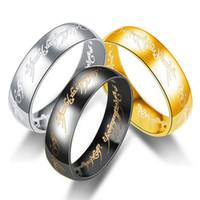 Bague des anneaux pour hommes Couples Seigneur de la bague Bague pour hommes et femmes Bague Personnalité Domineering Extreme Bagues Bijoux