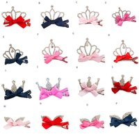 2018 superventas Crystal Crown Baby Kids Girls Girls Shiny Princess Rabbit Ears Hair Clip # 0418