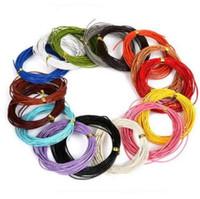 5M / brin 1mm rond en cuir véritable cordon de bijoux / fil / fil / chaîne cordes perles pour collier Bracelet DIY Résultats de bijoux