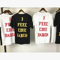 Kanye West New T-shirt I FEEL LIKE PAB LO NEW YORK Camisetas Short Sleeve Red Blue Tee Print camiseta