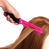 Frisör v-typ rätningskam hår rätare borst pro salong hårklipp diy frisör styling verktyg anti statisk kamborste