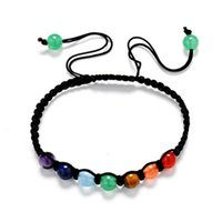 DIY 7 Colorful Natural Stone Beads Crystal Chakra Bracelet F...