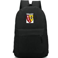 الصليب الأحمر لنس على ظهره RCL شارة النادي daypack حقيبة مدرسية لكرة القدم ممارسة حقيبة الظهر الرياضة حقيبة مدرسية في الهواء الطلق حزمة اليوم