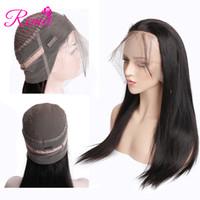 RCMEI Pelucas de pelo rectas brasileñas Pelucas frontales de encaje 360 150% Densidad Pelucas de pelo humano Color natural Envío gratis 10-24 pulgadas