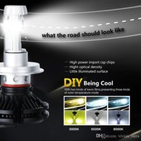 X3 tipo H4 H7 H11 9005 9006 H13 del coche LED Faros Bombillas 50W 6000LM Cree fichas Todo en uno 3000K 6500K 8000K