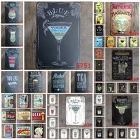 Vintage Metal Tin Signs For Wall Decor Mojito Beer Iron Pain...