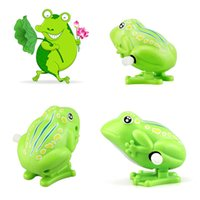 Kids Wind Up Clockwork Toy Mini Cute Jumping Frog Baby Toys ...