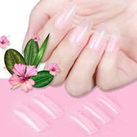 100pcs Beautiful Clear false Nails Tips Acrylic Artificial F...