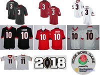 NCAA SEC Georgia Bulldogs Jake Fromm Camisetas universitarias de fútbol DAndre Swift Nick Chubb Herchel Walker Sony Michel Bulldogs Rose Bowl Jersey