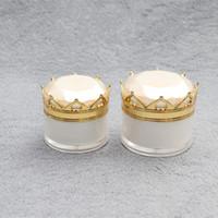 5g / 10g / 15g / 20g Crown Jar Vide Cosmétique Crème Contour Des Yeux Huile De Lèvre Bouteille Acrylique Bouteille Rechargeable Lotion Paquet à Emporter Contenants F1000